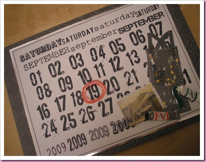 Calendar Birthday Card