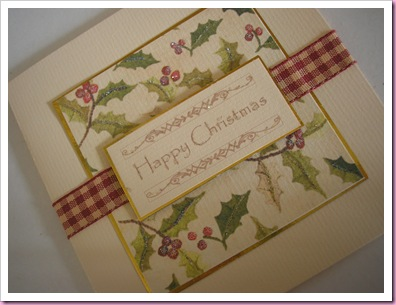 Holly with Ribbon Card