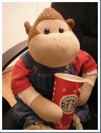 Monkey with Egg Nog latte