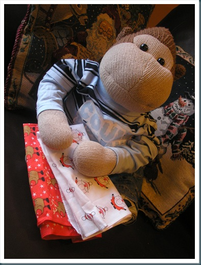 Monkey with hankies