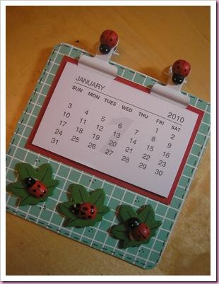 Ladybird calendar