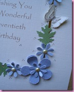 70th Birthday Card Close Up