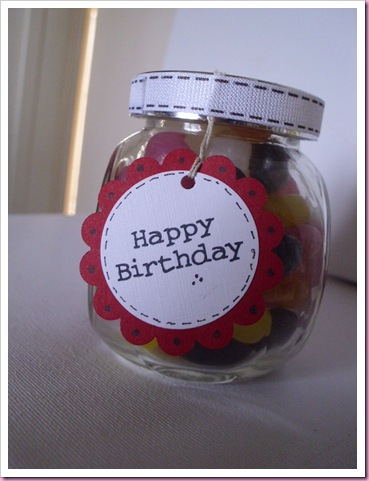 Birthday beans jar