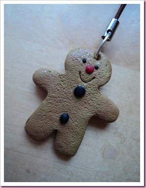 My Gingerbreadman Phone Charm