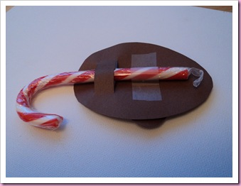Back view of Candy Cane Mouse
