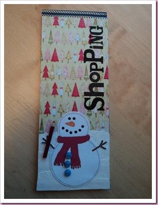 Christmas Shopping List Notebook