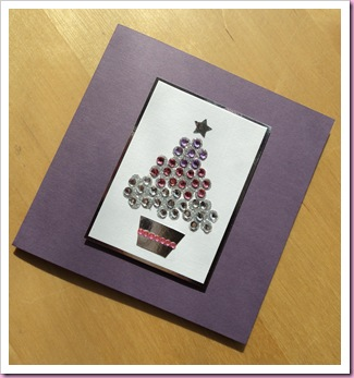 Jewelled Christmas tree card