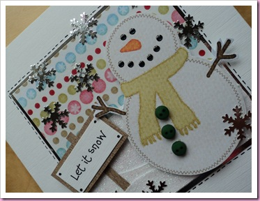 Let It Snow - Snowman Card 2