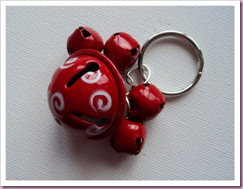 Christmas Jingle Bell keyring 1