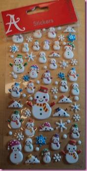 Accessorize Snowman Stickers