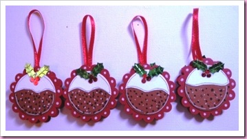 Christmas Pudding Mint Tree Decorations