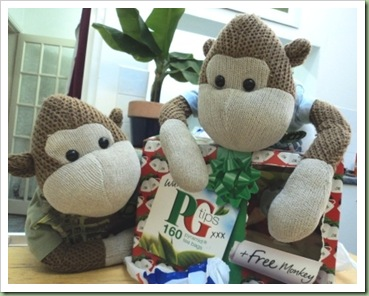 P G Tips Christmas Monkey