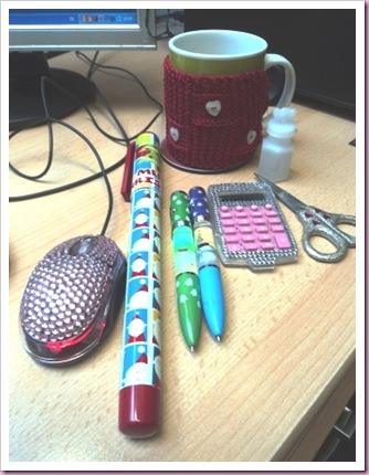 My festive desk 2010