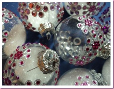 decorated clear glass christmas baubles 1