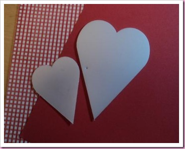 heart template and papers