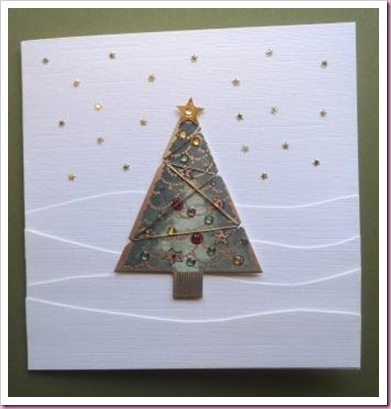 Papermania Christmas Tree Card