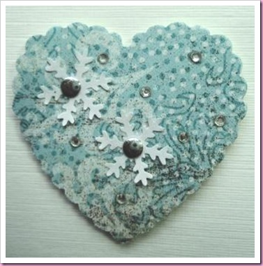 Snowflake heart Card