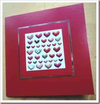 Little Puffy hearts valentine Card