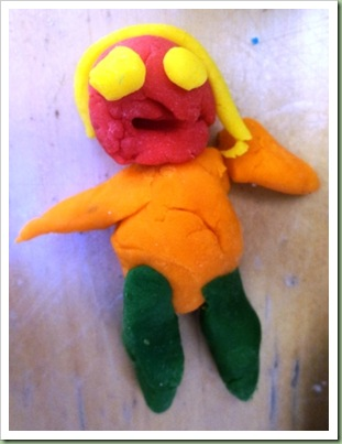 Stacey Solomon made out of Play Dough