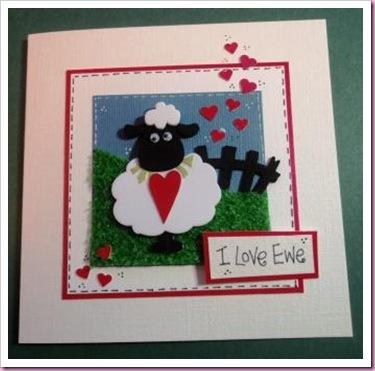 I Love Ewe Valentine Card