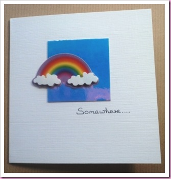 Somewhere .... rainbow card