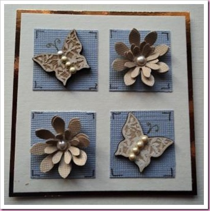 Wooden Butterfly Card