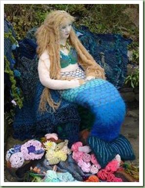 RLNI knitted mermaid