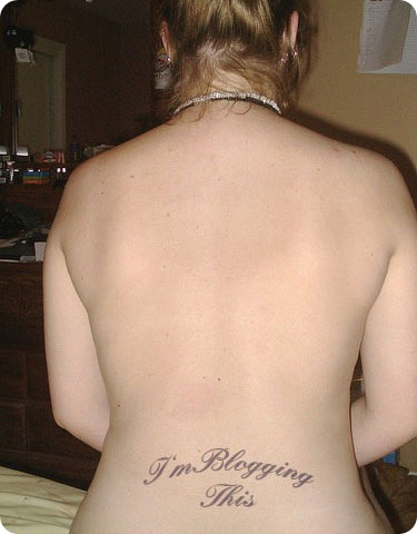 SexyGirl Back HIp Tattoo for blogging