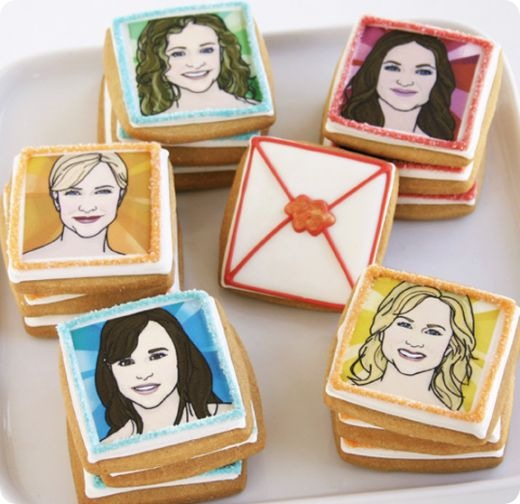 Female Celebrity Face Biscuits