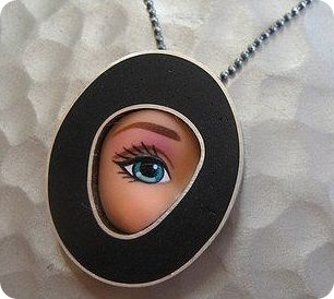 eye pendant on a necklace