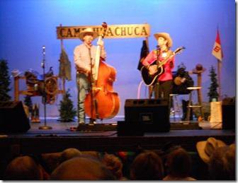 Cowboy Gathering- Stampede performing