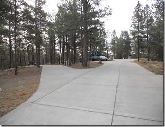 Campsites at Fool Hollow Lake Campground, Show Low, Arizona