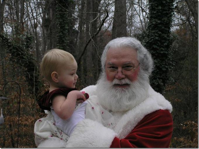 Cadence & Santa 2010 - 4