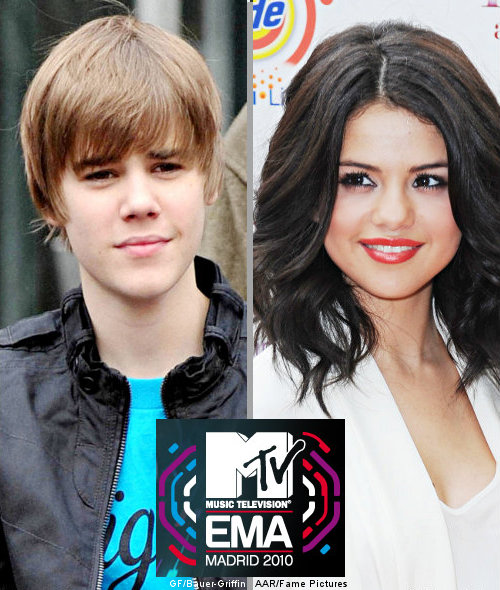 JUSTIN BIEBER AND SELENA NOMINATED FOR EUROPEAN MTV MUSIC AWARDS