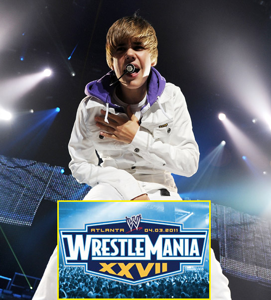 Justin Bieber may appear on Wrestle Mania for national anthem