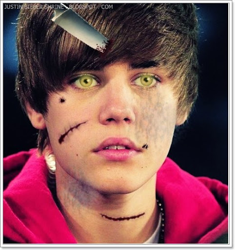 New 2010 Scary Justin Bieber Picture