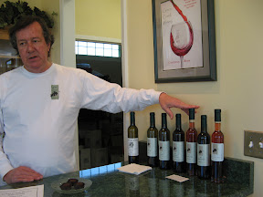winery owner with his wines