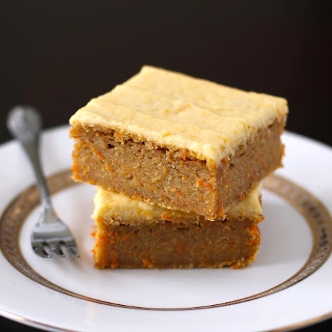 Carrot Cake Blondies with Orange Frosting