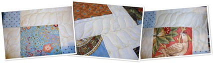 View quilting on tablerunner