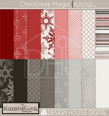 dhd-karen funk-christmas magic-paper preview