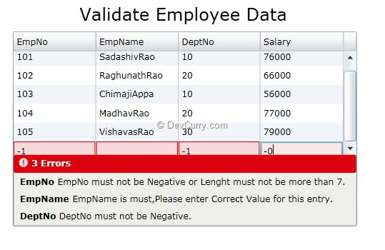 Silverlight Data Grid Validation