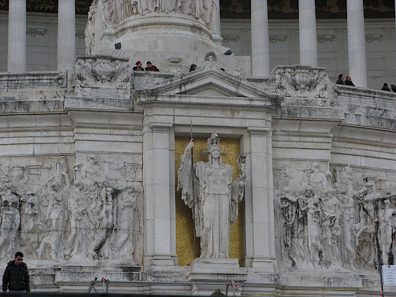 Detall del monument a Vittorio Emmanuelle II