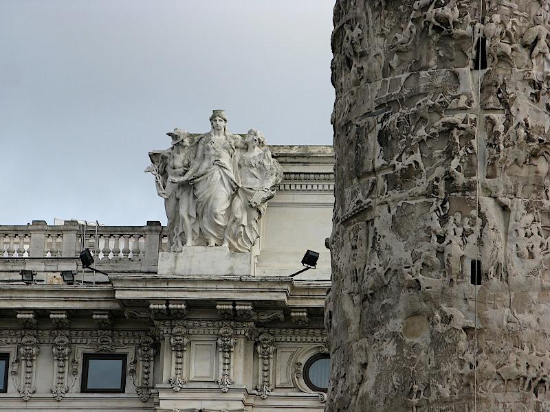 Detall de la columna de Marcus Aurelius