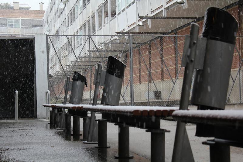 Neu sobre els bancs