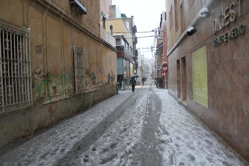 Neu al carrer de la Granota