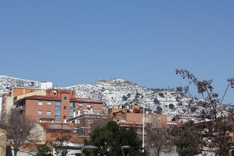 El dia després de la nevada: poblat ibèric del Puig Castellar