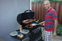 John Taghavi manning the BBQ
