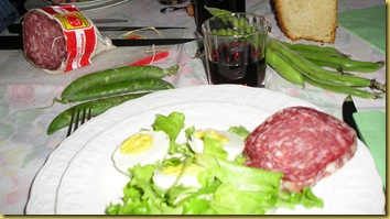 insalata e ciapp e salame della rosita