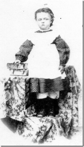 Sarah Mariah Follett, 4 yrs. old, about 1870