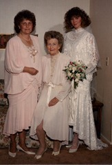My wedding day--3 generations